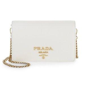 White Prada crossbody bag